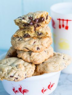 Thick and chewy chocolate chip cookie recipe.