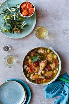Moroccan chicken with sweet apricot and green olive sauce by Nadine Greeff - Casserole, Chicken - Stocksy United