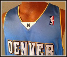 DENVER NUGGETS CHRIS ANDERSEN ADIDAS EMBROIDERED JERSEY ADULT SIZE 48  FREE SHIP #adidas #DenverNuggets
