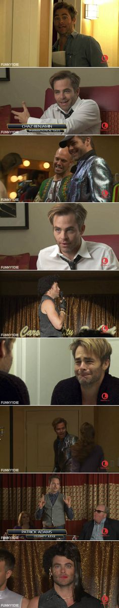 OMG, is that our cute Chris Pine?The last pic makes me laugh!