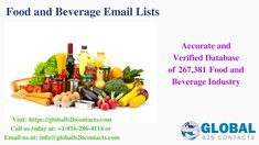 Food And Beverage Industry, Food Industry, B2b Email Marketing, Email List, Beverages, Business, Store, Business Illustration