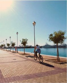 Bliss out at the Athenian Riviera, only a stone's throw away from the hustle and bustle of the city. Bustle, Athens, Bliss, Cycling, Sea, Stone, City, Places, Biking