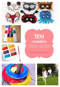 10 creative play date ideas at I Heart Nap Time - Easy recipes, DIY crafts, Homemaking
