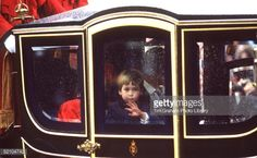 Prince William, Travelling In A State Coach With His Parents In A... News Photo   Getty Images