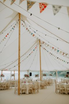 Beautiful City Cathedral Meets Country Marquee Wedding in Bristol Wedding Bunting, Marquee Wedding, Wedding Marquee Decoration, Party Tent Decorations, Nautical Wedding, Wedding Themes, Wedding Venues, Wedding Favors, Wedding Souvenir
