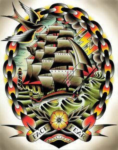 I want a clipper ship tattoo