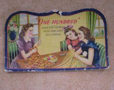 """Vintage Needle Book----""""One Hundred"""" Gold Eye Needles"""