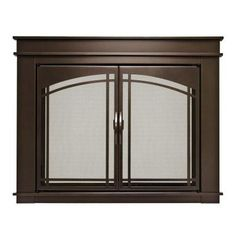 Pleasant Hearth Fenwick Medium Glass Fireplace Doors FN 5701   The Home  Depot