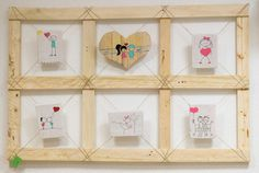 Chloe decoration #pallets#retrato familiar#custom photos frame#