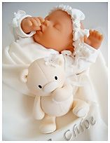 Sleeping Baby Christening Cake, these cakes are only like 3k no big deal