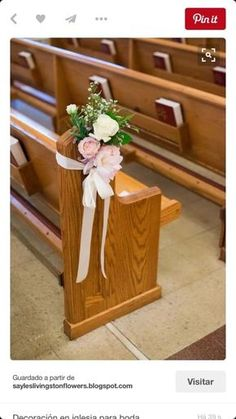 Church is the best place for a wedding ceremony to make it more spiritual and intimate. Set your wedding space with these simple church wedding decorations. Simple Church Wedding, Church Wedding Flowers, Wedding Pews, Wedding Chairs, Fall Wedding, Rustic Wedding, Wedding Season, Wedding Bouquets, Church Aisle Decorations