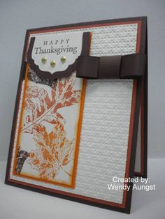 Mojo163 & CC295 ~ Thanksgiving Wishes by WeeBeeStampin - Cards and Paper Crafts at Splitcoaststampers