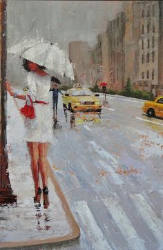 Cross Walk Painting by Laura Lee Zanghetti