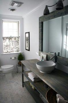 10 Ideas for Modern Bathroom Design Great bathroom beautiful bathroom vanity Bathroom - Ideas for our small bathroom Shelving in dead space. Bathroom Renos, Bathroom Renovations, Bathroom Interior, Modern Bathroom, Simple Bathroom, Bathroom Flooring, Serene Bathroom, Downstairs Cloakroom, Zen Bathroom