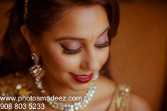 Punjabi Bride getting ready by Kanwal Batool Photo by PhotosMadeEz Indian Wedding in hilton parsippany, NJ. Best Wedding Photographer PhotosMadeEz, Award winning photographer Mou Mukherjee. Gujarati Groom - Sikh Bride....#‎meetthesherwals‬