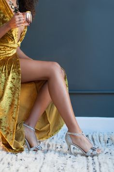 Be ready to have the attention on your with this gorgeous yellow valor dress: http://www.stylemepretty.com/living/2016/12/27/how-to-make-your-party-and-yourself-sparkle-this-new-years-eve/ Photography: Blue Rose - http://www.bluerosepictures.com/