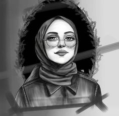 Girl Cartoon, Cartoon Art, Tmblr Girl, Hijab Drawing, Art Photography Portrait, Girly M, Islamic Cartoon, Anime Muslim, Profile Pictures Instagram