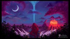 ★ Sköll and Hati Wallpaper - Timelapse Digital Painting [Tales of Midgard webcomic] Comic Books, Fantasy, Studio, Digital, Wallpaper, Videos, Artwork, Painting, Instagram