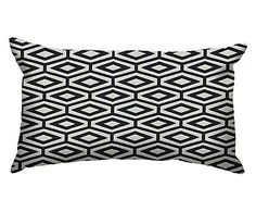 Capa de Almofada Malbor Soft Preta e Branca - 30X50cm
