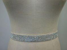 Wedding Belt, Bridal Belt, Sash Belt, Bridesmaid Belt, Crystal Rhinestone - Style B1016 on Etsy, $38.00