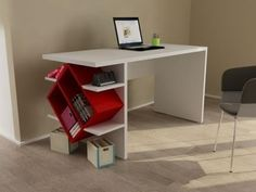 escritorio minimalista, moderno, librero, ejecutivo, escolar