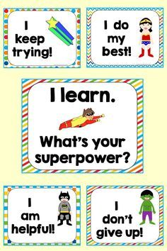 Mindset Posters - Free Free posters to reinforce Growth Mindset with our youngest learners.Free posters to reinforce Growth Mindset with our youngest learners. Growth Mindset Classroom, Growth Mindset Posters, Superhero Classroom Theme, Classroom Themes, Classroom Rules, Visible Learning, School Themes, Character Education, Beginning Of School