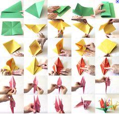 Paper Crane Tutorial to Help Your Children & Those in Japan – Origami Origami Paper Crane, Origami Swan, Origami And Kirigami, Origami Folding, Paper Crafts Origami, Paper Folding, Diy Paper, Paper Art, Paper Cranes