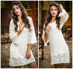 Hey, I found this really awesome Etsy listing at https://www.etsy.com/listing/212935780/white-bohemian-mini-lace-dress-boho-34