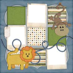 8 x 8 baby scrapbook pages | ... add the beautiful baby photos you won't notice the scrapbook work