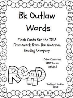 I've made NEW AND IMPROVED flashcards but I'm leaving the same great low price! These cards are for the Wt level of the IRLA framework from the American Reading Co. This is color-coded (black and white) to go with the rest of the IRLA levels. -Has blank card space for writing in your own words if needed.Ideas for the classroom:-I have a set printed out on card stock, laminated, and hole punched with a binder ring in it that I leave at my word work center.