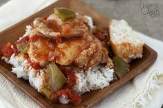 """This recipe has been floating around my family for a few years. Until a few days ago we had just been calling it, """"Braised Chicken Thighs with Tomatoes and Peppers."""" It was only while stumbling across another recipe that I realized it was really a simplified chicken cacciatore. The beauty of this recipe is how simple and easy it is."""
