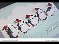This card features the Mama Elephant Arctic Penguins Stamp and Creative Cuts dies! *Supplies Listed Below* More details: http://nicholmagouirk.typepad.com/th...