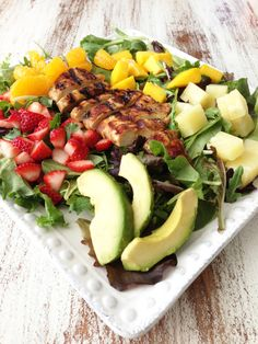 Tropical Chicken Salad & Honey Balsamic Vinaigrette