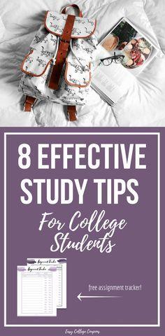College Study Tips | Hacks | Notes | Free Printable | Homework