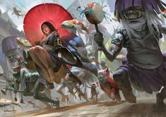 Ghost's Procession by Zeen Chin > just how awesome is this #conceptart ?  #manga #anime