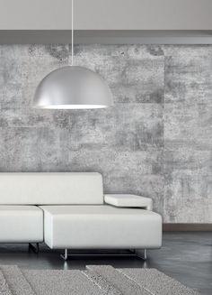 rev tement mural imitation de b ton 48 x 96 gris rona couleur de mur pinterest. Black Bedroom Furniture Sets. Home Design Ideas