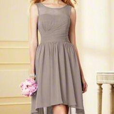 Chiffon Taupe Dress. Perfect Condition!