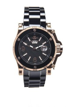Oniss Gents Ceramic And Stainless Steel Bracelet Watch - $169