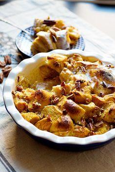 pumpkin pecan bread pudding