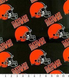 Cleveland Browns Cotton Fabric by the Yard