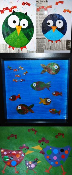 Kid's art--fish ideas for what to do with all that artwork they bring home
