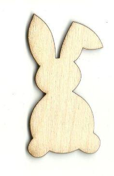 Bunny Rabbit - Laser Cut Wood Shape BNY34