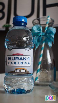 vosvos temalı doğumgünü partisi - ilk yaş parti organizasyonu - su şişesi etiketi
