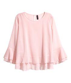 Kaksinkertainen pusero | Vaaleanroosa | Naiset | H&M FI