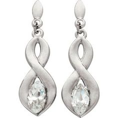 Buy 9ct White Gold Figure of 8 Cubic Zirconia Drop Earrings at Argos.co.uk - Your Online Shop for Ladies' earrings.