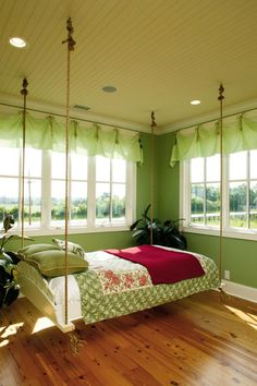 Porch swing day bed ~ I want one!