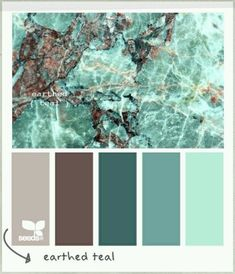 Earthed Teal colour palette by Design Seeds Colour Pallette, Color Palate, Colour Schemes, Brown Color Palettes, Color Combinations, Design Seeds, My New Room, Pantone, House Colors