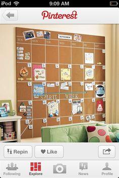 Love this calendar idea!!!