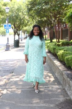 Modest bridesmaid dresses | Modest fashion | Mint lace Hamptons Dress by Dainty Jewell's Modest Apparel