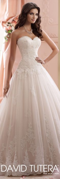 The David Tutera for Mon Cheri Spring 2015 Wedding Dress Collection - Style No. 115241 Lucien   davidtuteraformoncheri.com  #weddingdresses